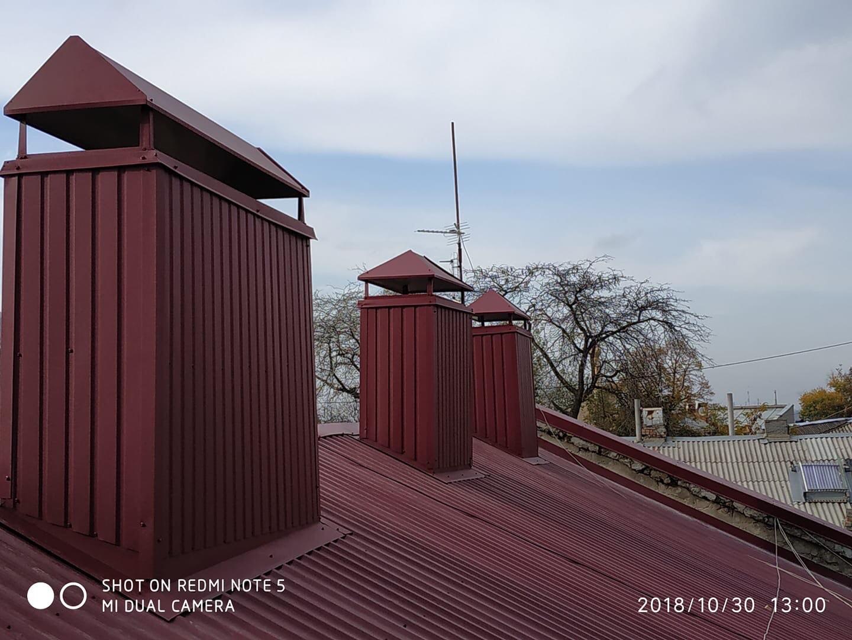 Фото Изготовление и установка колпаков на дымоходы