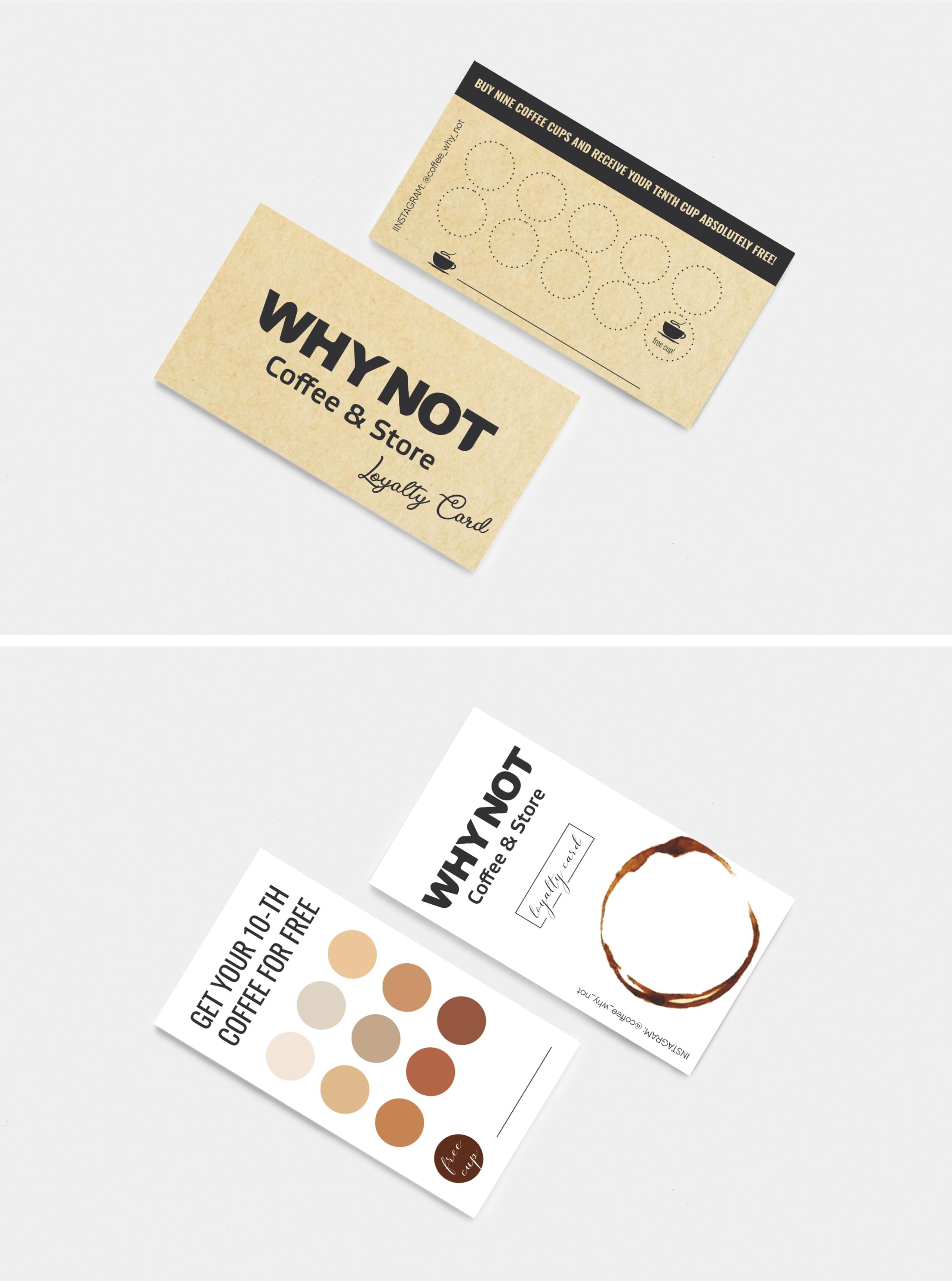 Фото Карта лояльности для кофеманов,  два варианта