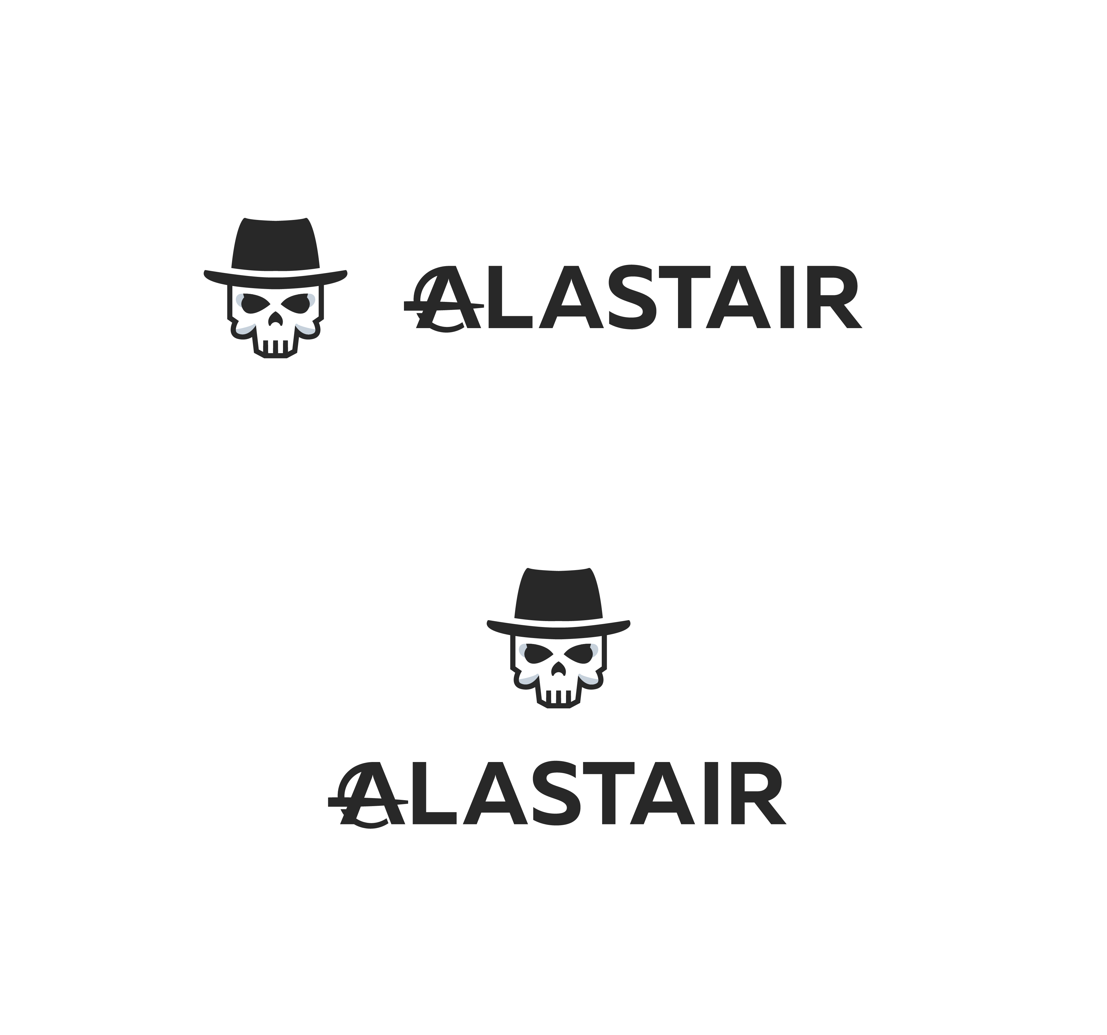 Фото Разработка дизайна логотипа для интернет-магазина рок-атрибутики «Alastair» Вариант 8