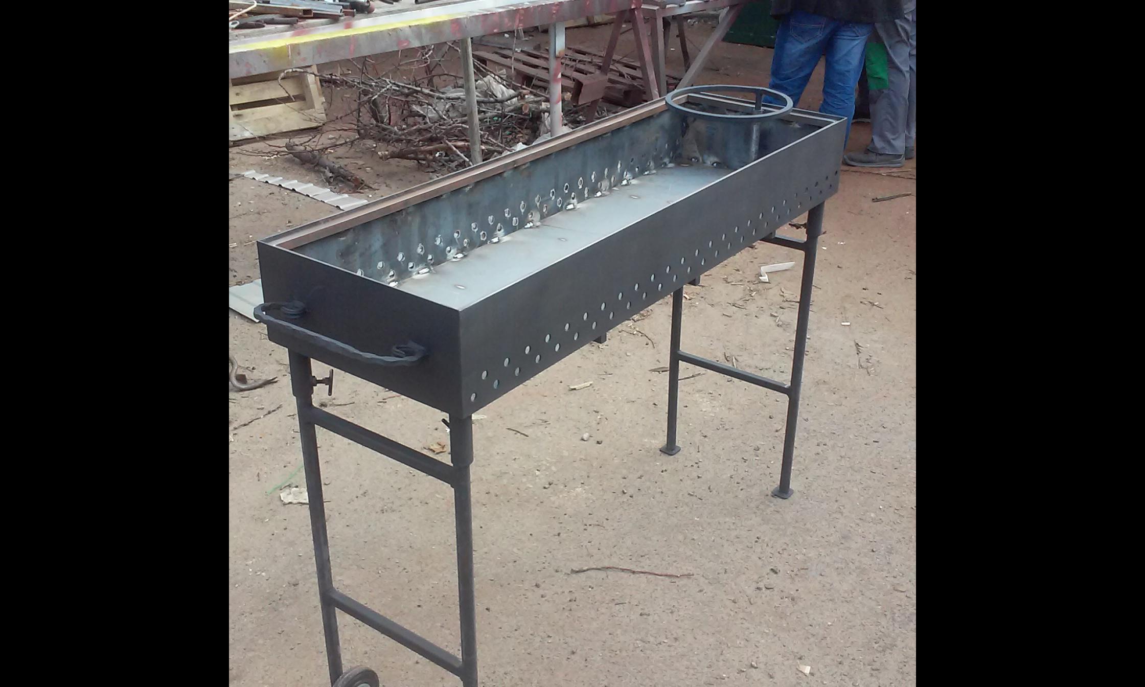 Фото Изготовить мангал для выезной торговли 1день