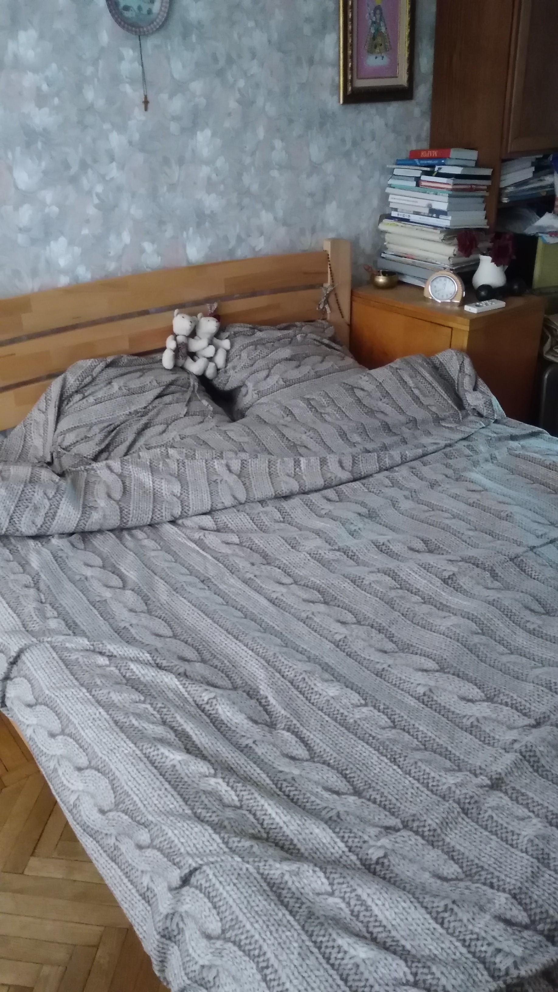 Фото Пошито постільну білизну з фланелі.