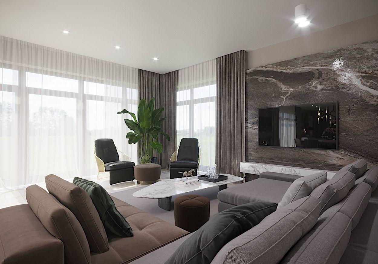 Фото Дизайн гостиной в современном стиле