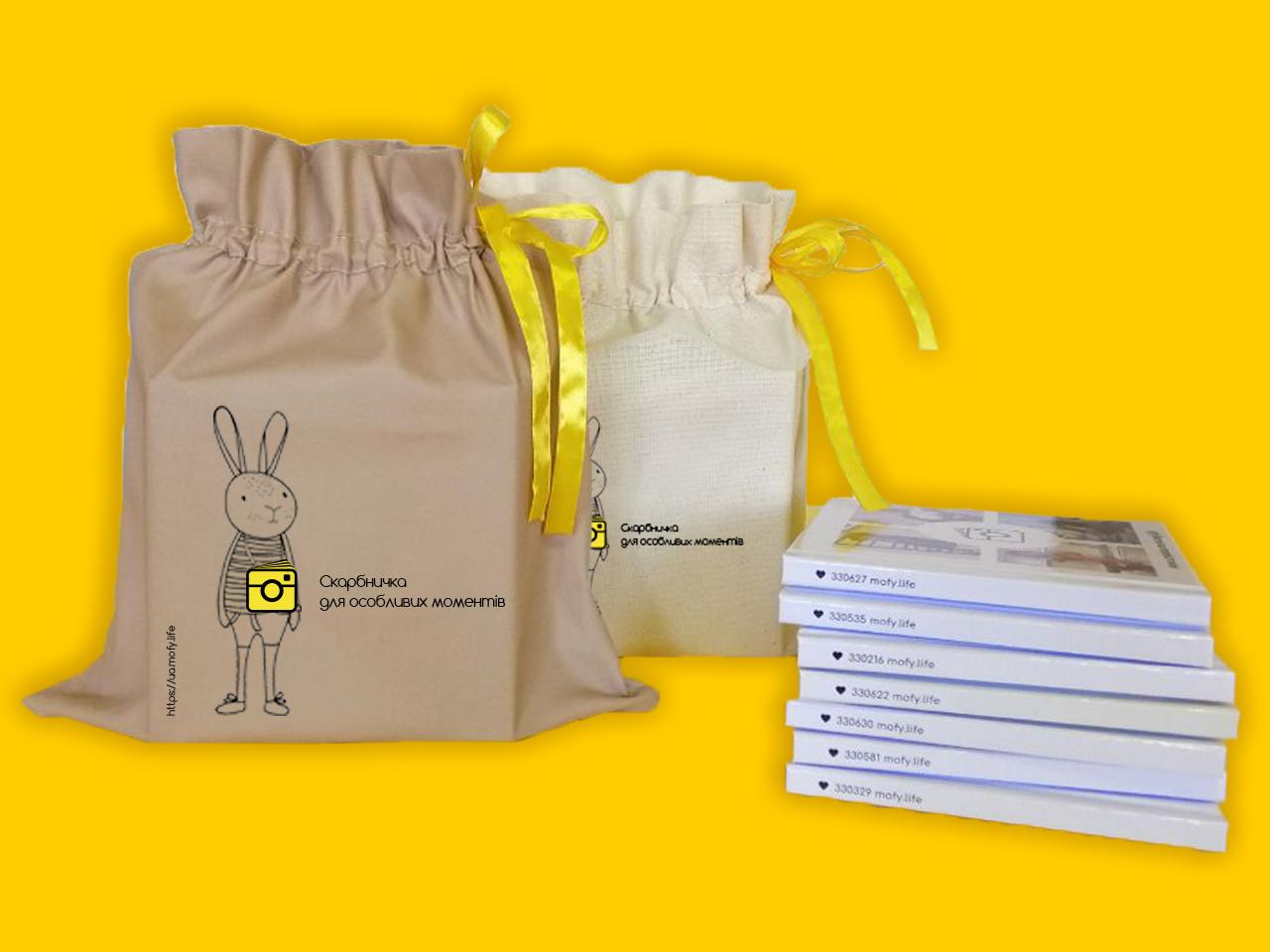 Фото Дизайн изображения на мешочке.
