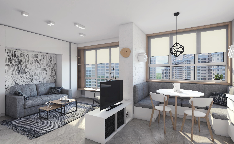 Фото Дизайн интерьера кухни-гостиной