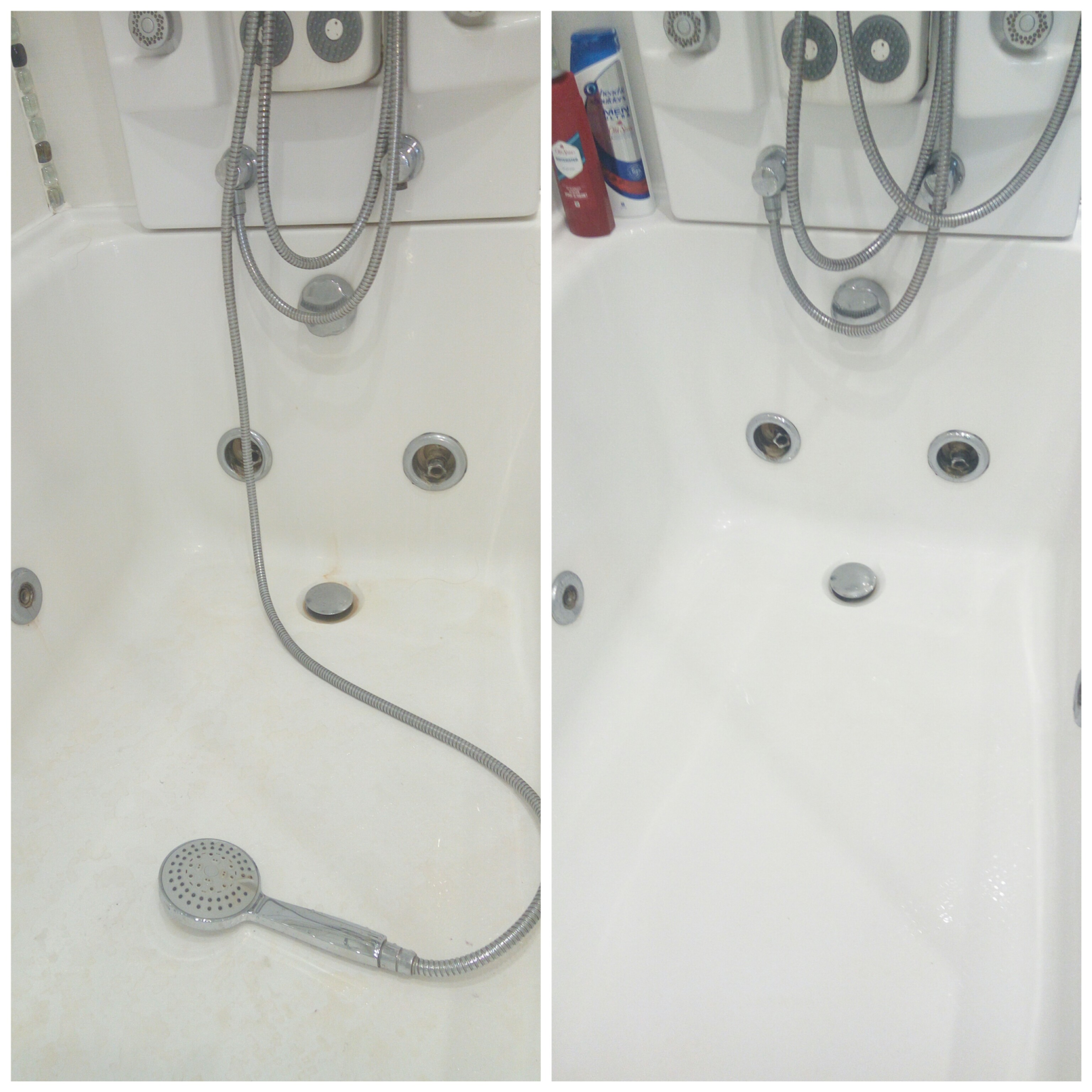Фото Бережная чистка ванной.