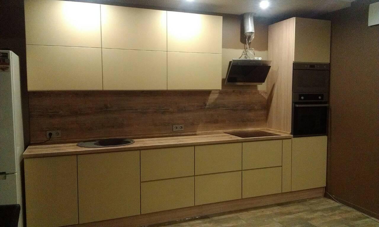 Фото Кухня с матовым крашенным фасадом, срок изготовления 1 месяц