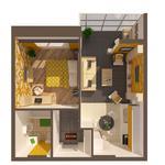 3D и 2D визуализация планировок квартир за 200 грн от 1 штуки