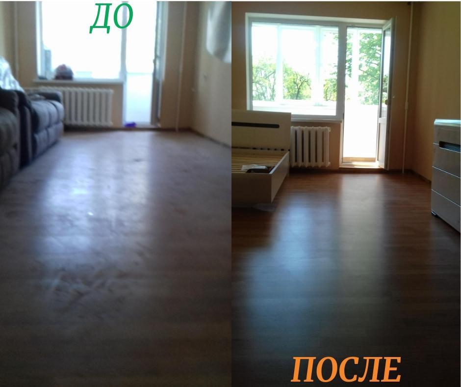 Фото Генеральная уборка 3-х комнатной квартиры после ремонта. Вытирание пыли, подметание и мойка 2-х балконов+3 окон, санузла, кухни, коридора.