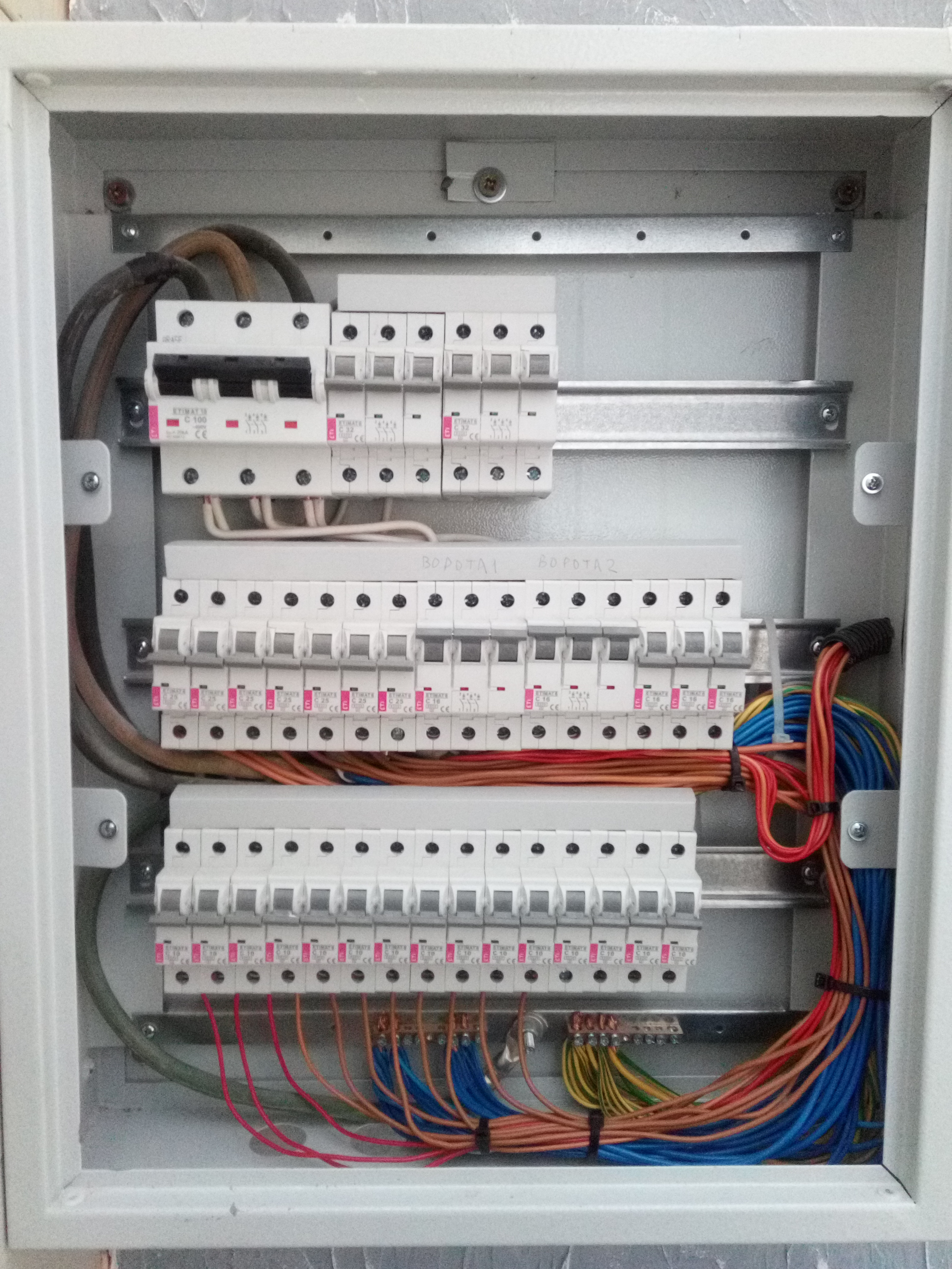 Фото Монтаж разключение электрического щита. 1 день