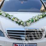 Прокат украшений на машину аренда цветов на свадебную машину
