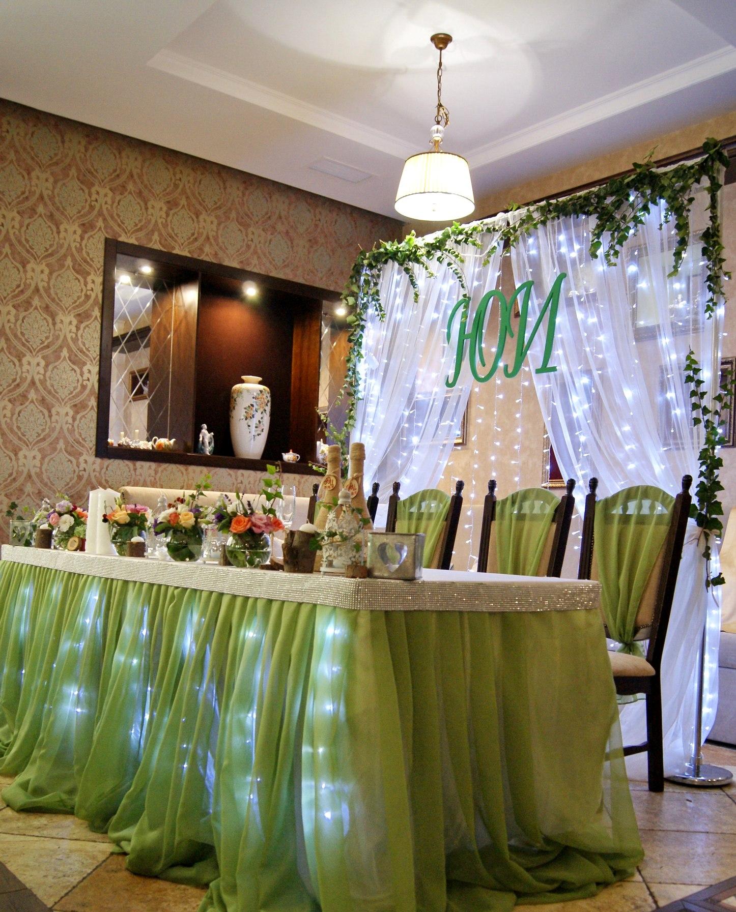 Фото Оформление зала тканями на свадьбу, день рождения, праздники 4