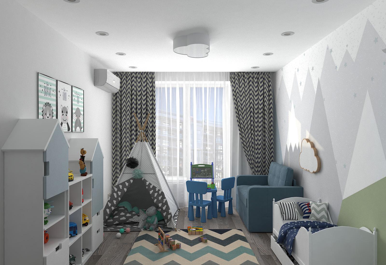 Фото Разработан дизайн-проект двухкомнатной квартиры