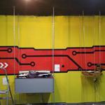 Роспись стены в офисе