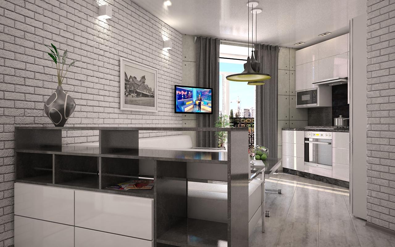 Фото Дизайн кухни-студии в стиле Loft