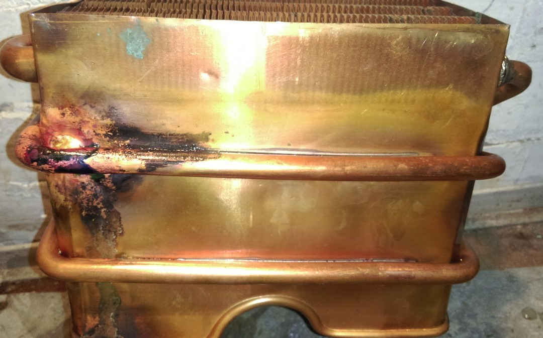 Фото Пайка теплообменников газовых котлов и колонок 2