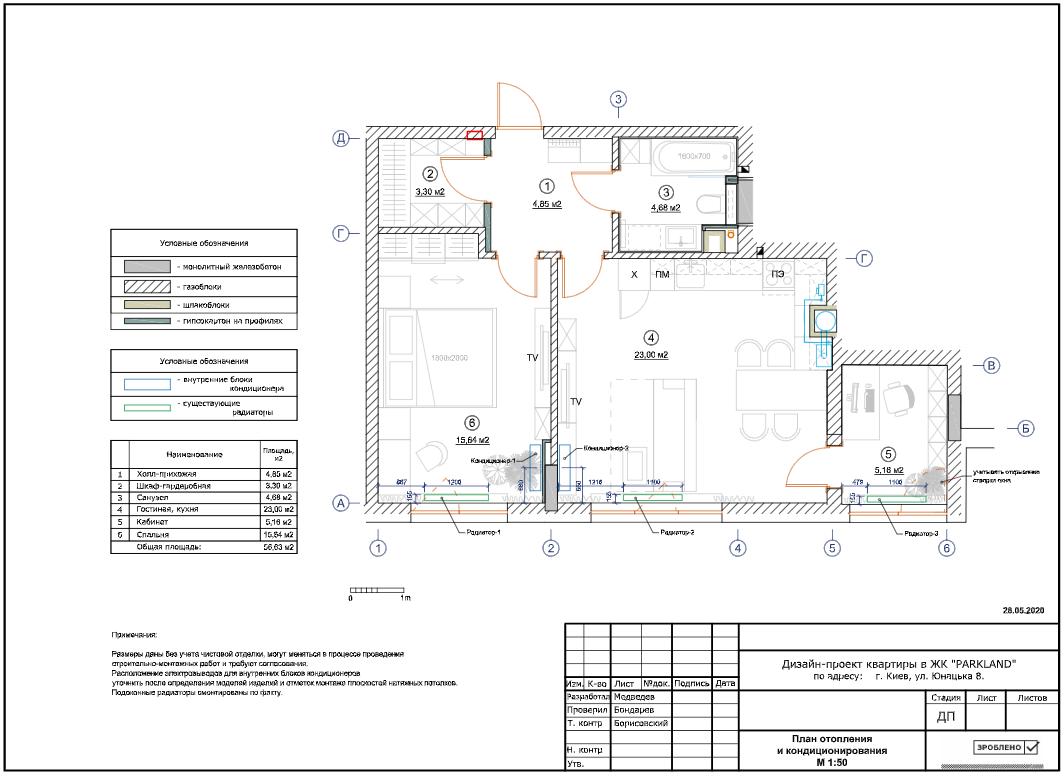 Фото Схема отопления и кондиционирования