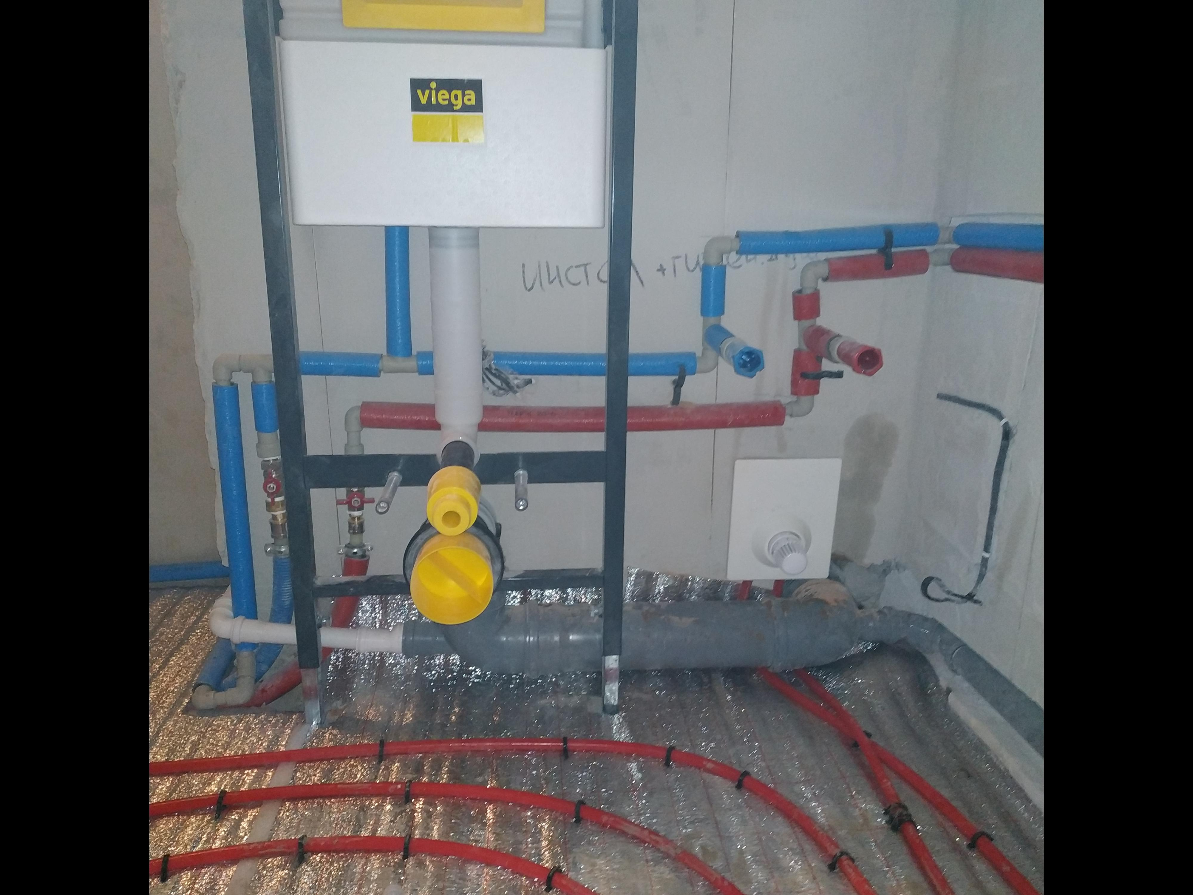 Фото Отопление, водоснабжение, канализация новострой.