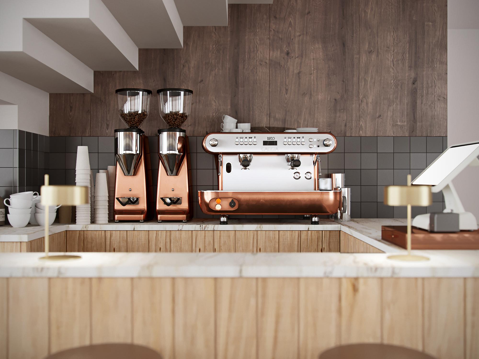 Фото Визуализация кофейни