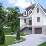 Архітектурна візуалізація котеджів (екстер'єр). 3д визуализация дома
