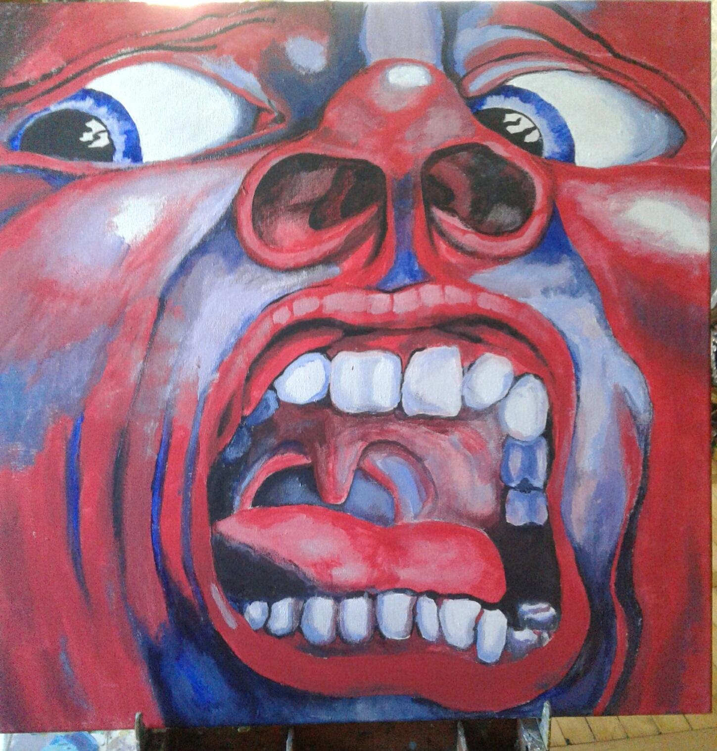 Фото Заказ полученный на этом сайте на копию обложки альбома рок группы. Размер 50х50 см, материалы холст, акрил.