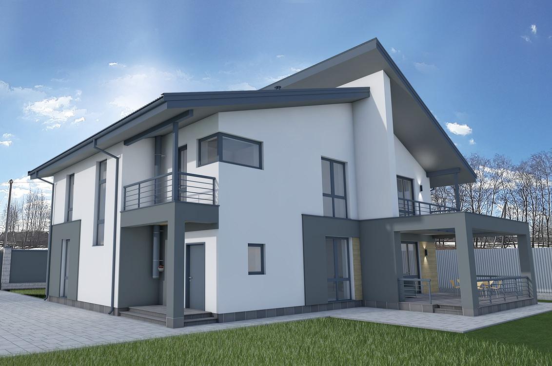 Фото Проект дома по существующему фундаменту.
