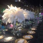 Декор помещений вазами с  перьями страуса.