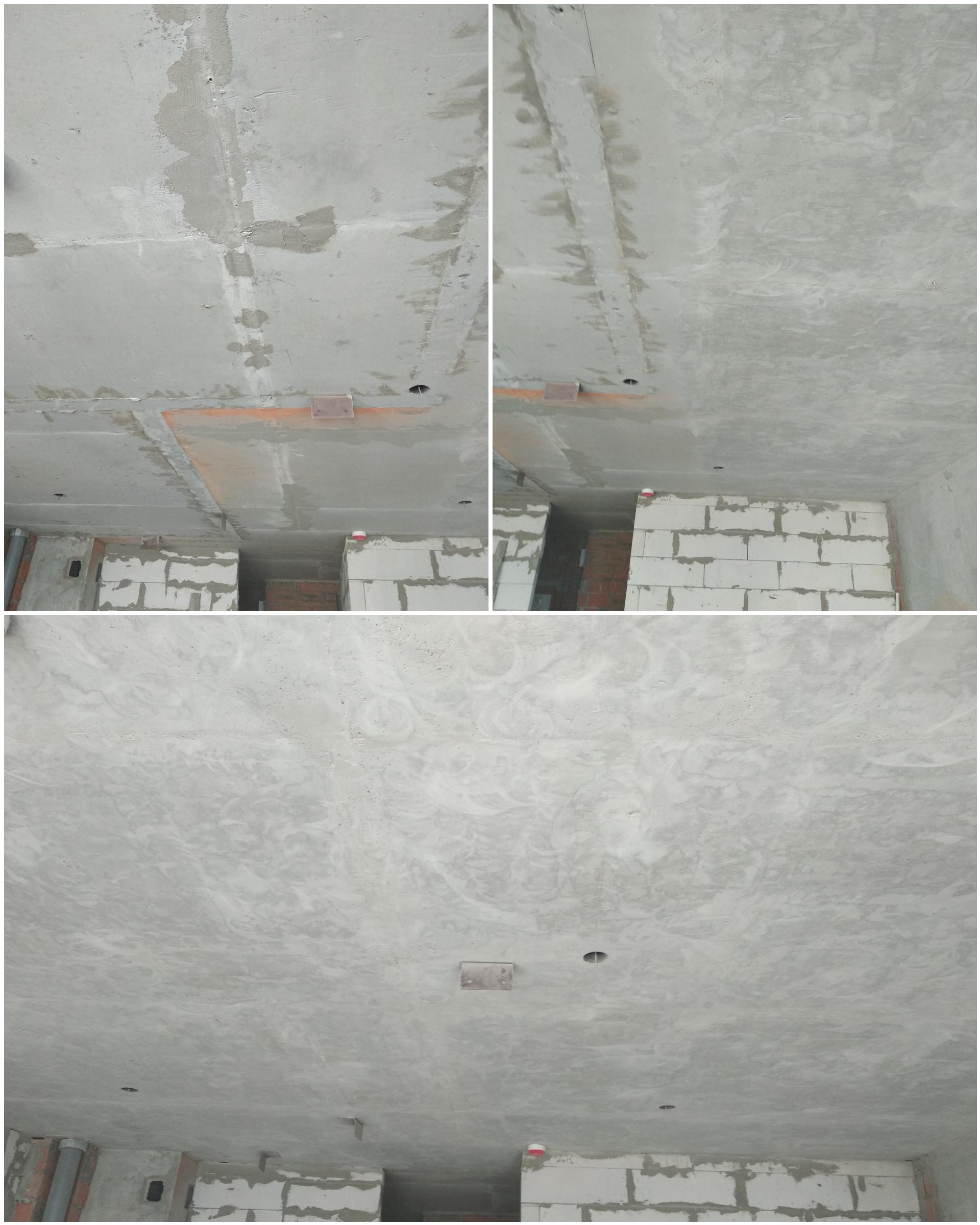 Фото Шлифовка потолка под лофт. ЖК Славутич 2