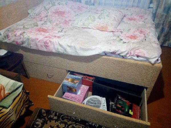 Фото Кровать с ящиками