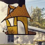 «Сказочный домик» — подвесной витраж в технике Тиффани 8 февраля