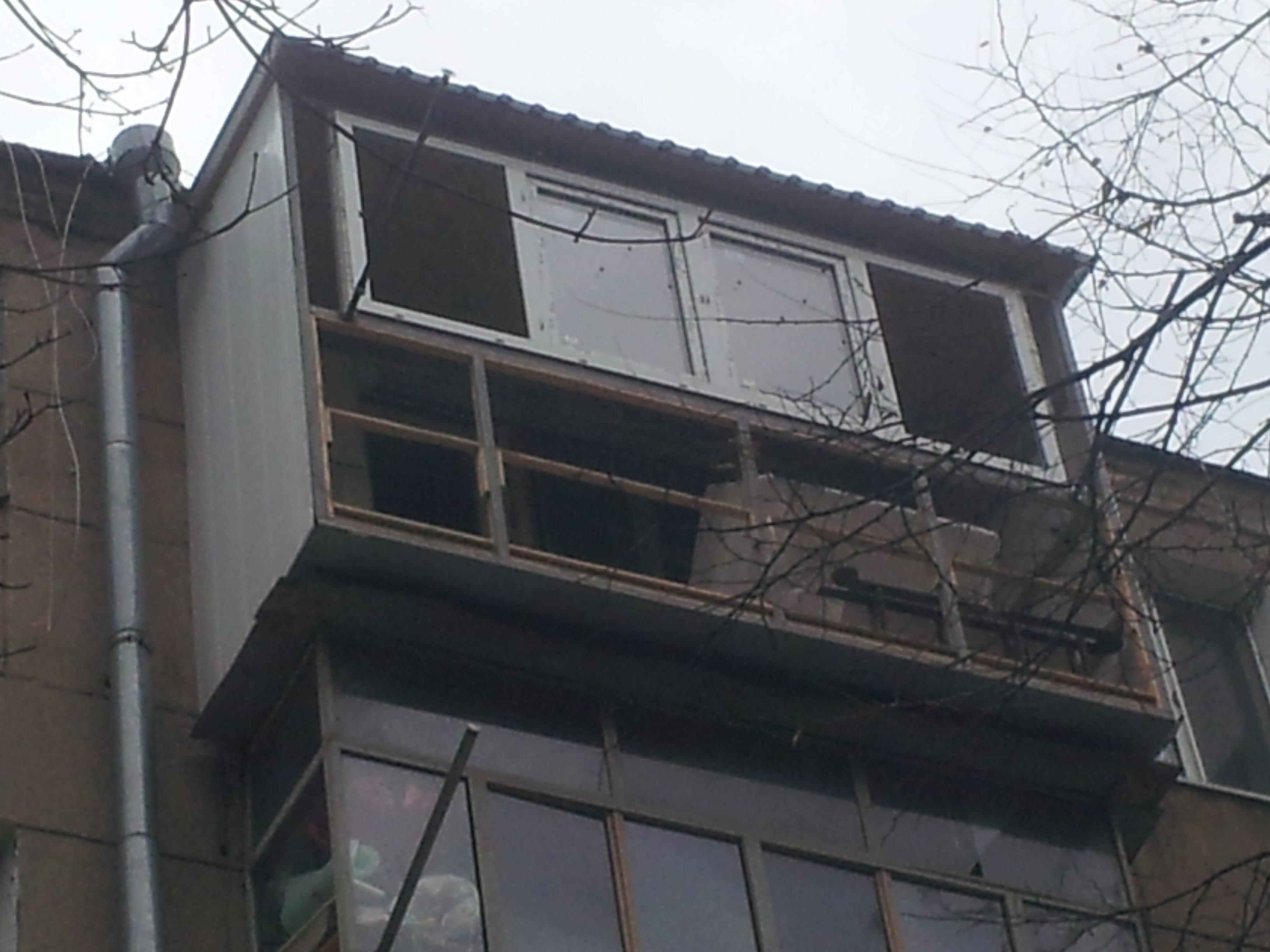 Фото Балкон с ноля на 5м этаже, под ключ. Время потрачено 1 неделя.