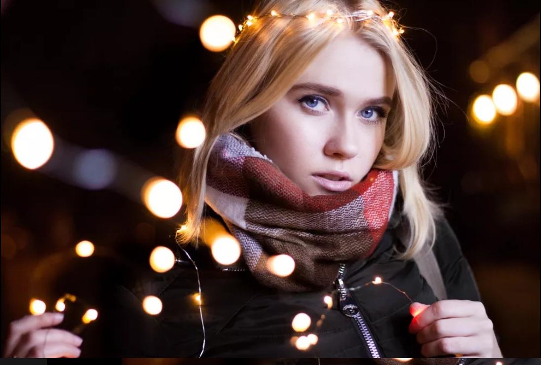 Фото Сильное размытие фона, добавление 3Д эффекта, добавление света