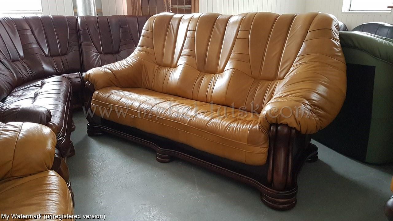 Фото Диван и два кресла Mercedes. Натуральная кожа  4