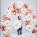 Большие цветы для декора из гофры, изолона и EVA