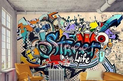 Фото Роспись-Граффити на стенах . Роспись выполняется Аэрографом.