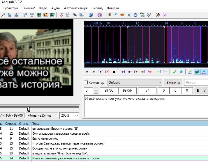 Фото Изготовление субтитров. Документальный фильм длительностью около 2 часов. Работа выполнена за 2 дня.