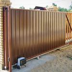Вуличні ворота. Відкатні або Розпашні ворота, Київ  модель ECON від 1 450 грн / м²