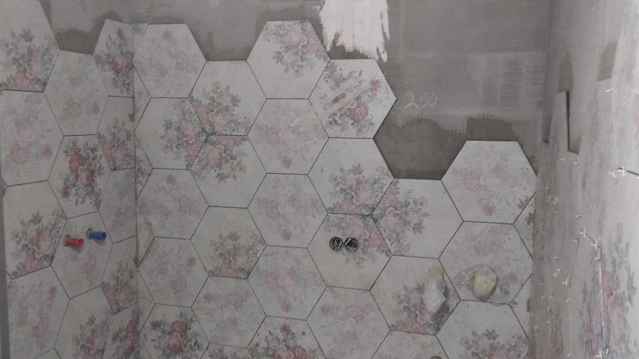 Фото Облицовка ванной комнаты керамогранитом