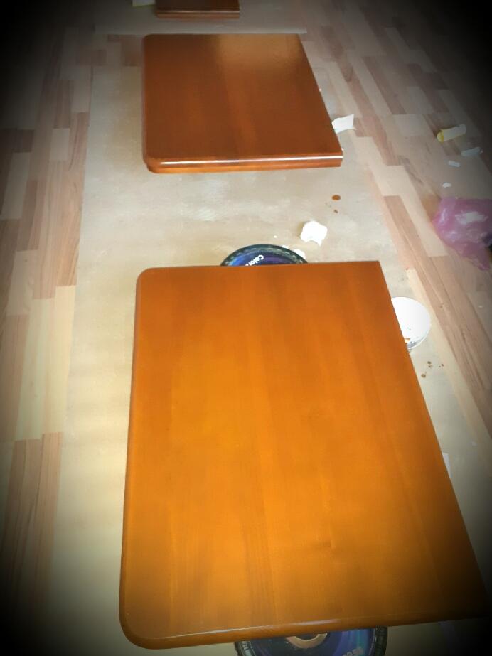Фото ☆ Реставрация кухонного стола: - устранение сколов, царапин; - восстановление, обновление поверхности.