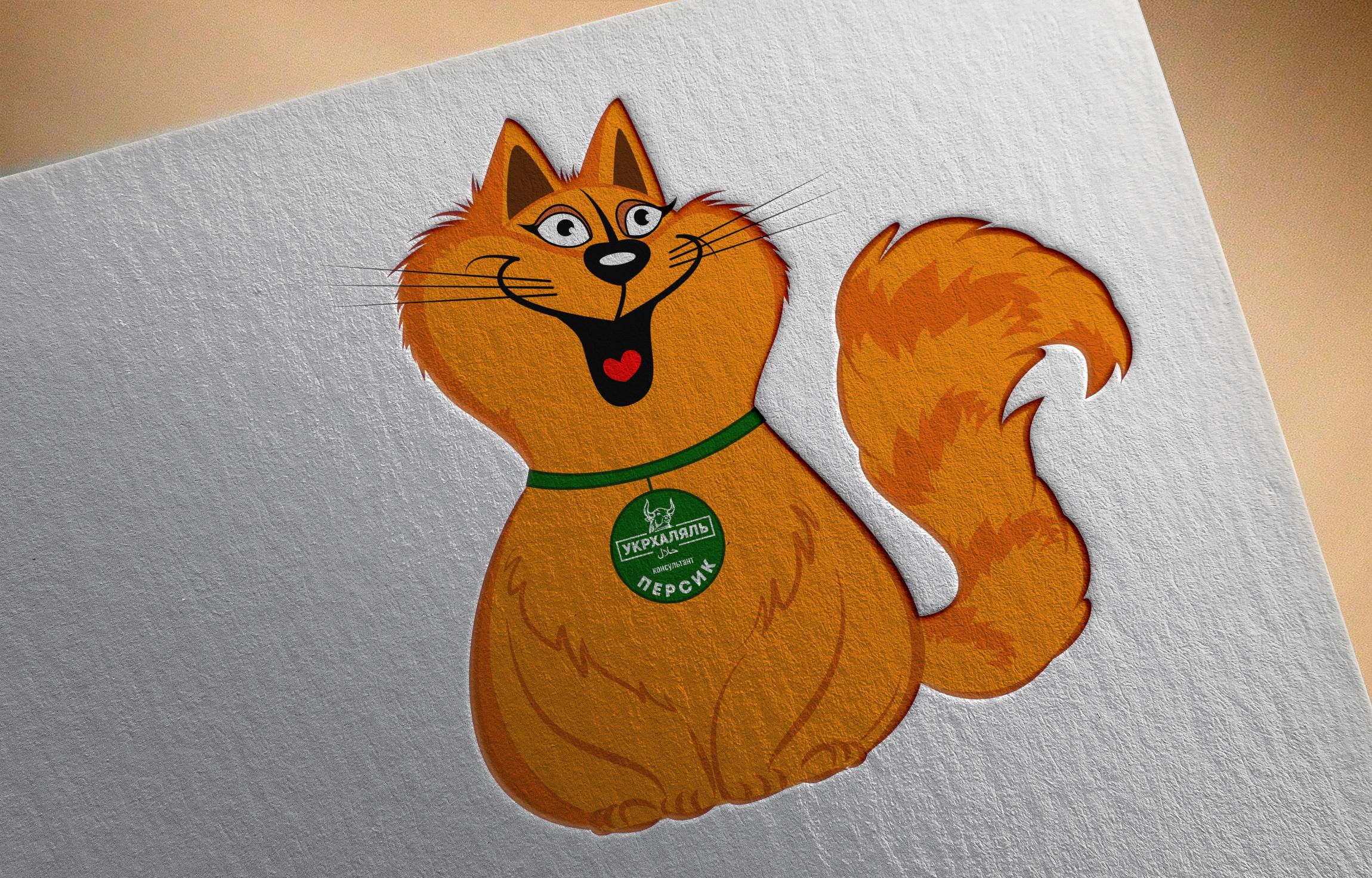 Фото Прорисовка героя котика-консультанта Персика для инстаграм магазина мясных изделий