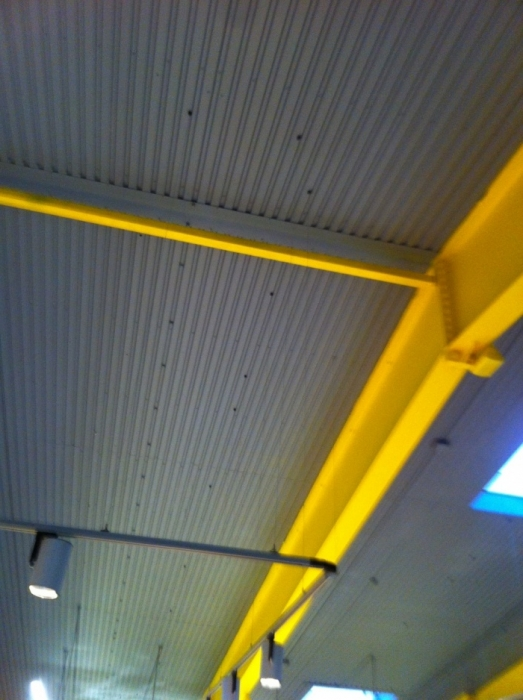 Фото Покраска супермаркета из ПИКАНИСКИ, высота 10м.