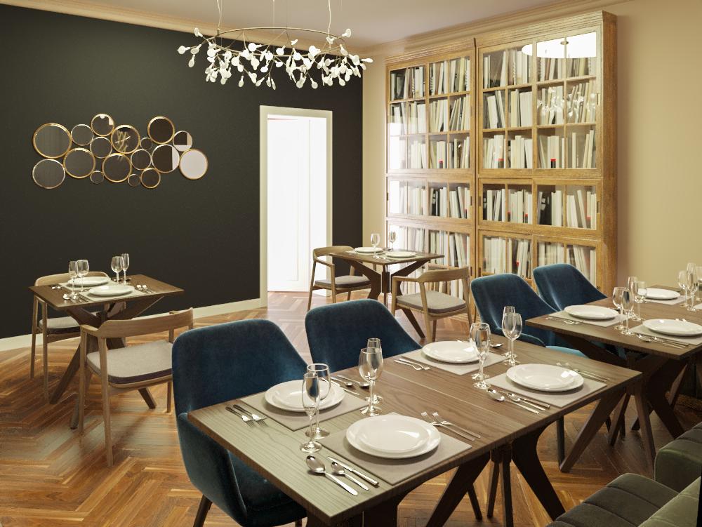 Фото Часто мені замовляют виконання діпломних робіт студенти архітектурних вищів. Одна з таких робіт -дизайн ресторану.