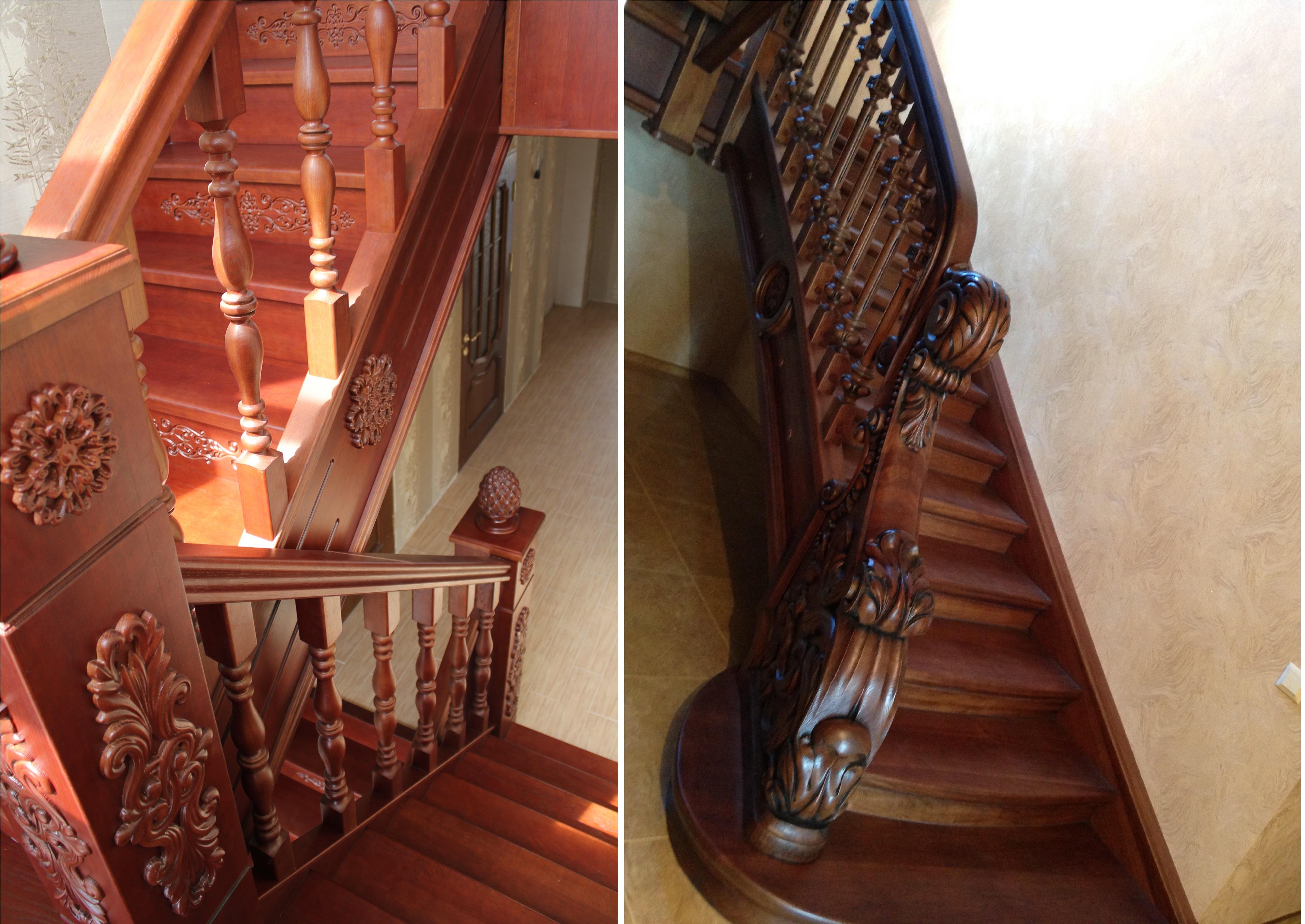 Фото Лестницы из дерева на заказ по индивидуальному проекту, фото работ !!! 2