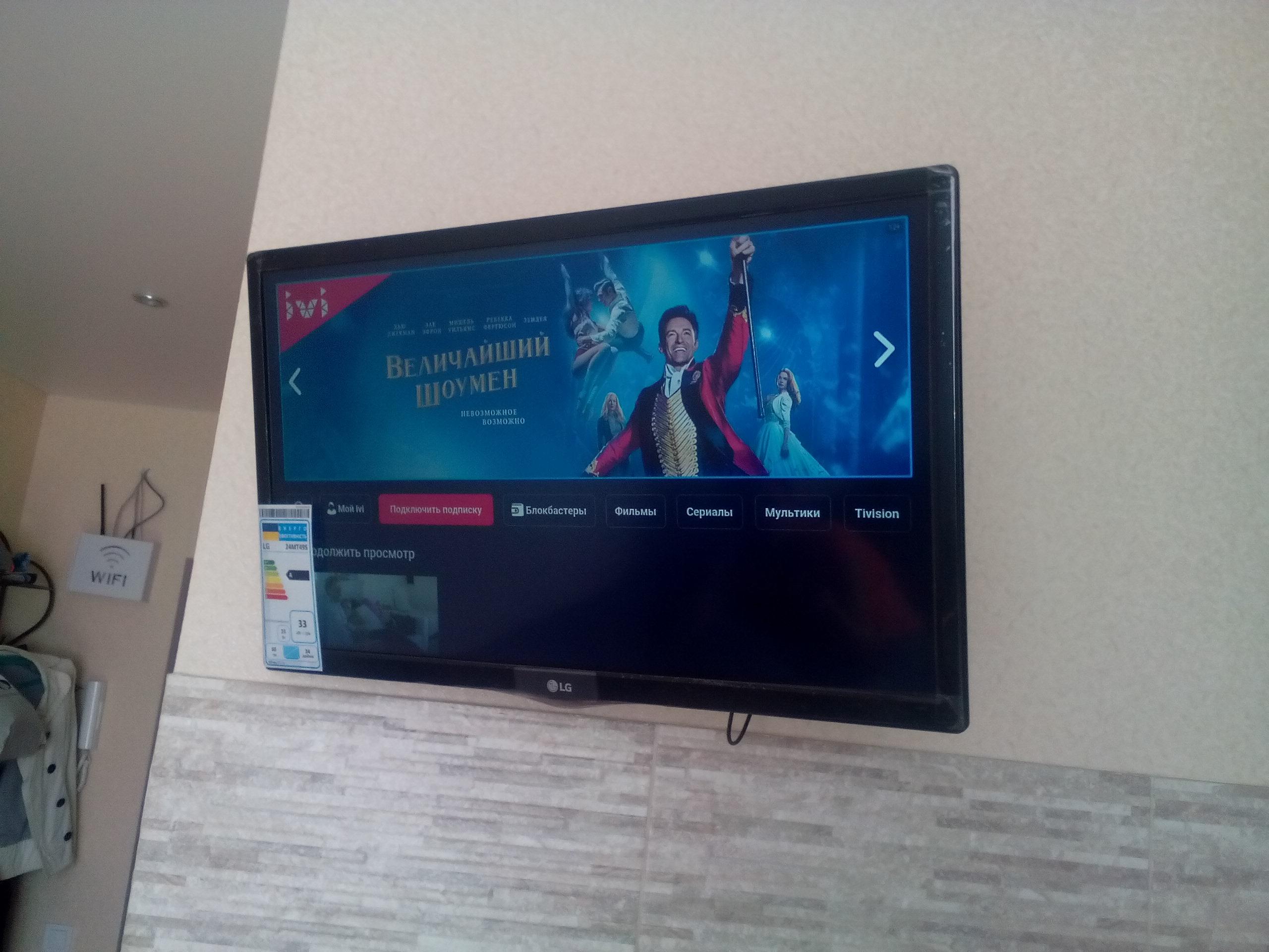 Фото Монтаж телевизора на стену