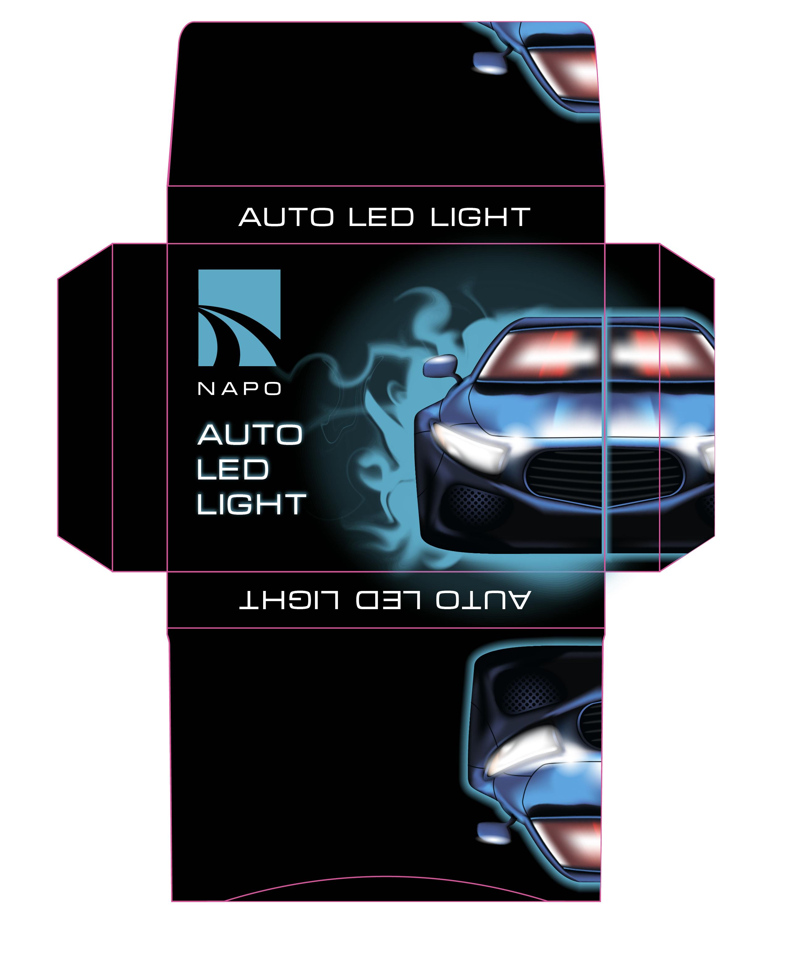 Фото Дизайн упаковки для світодіодних led auto