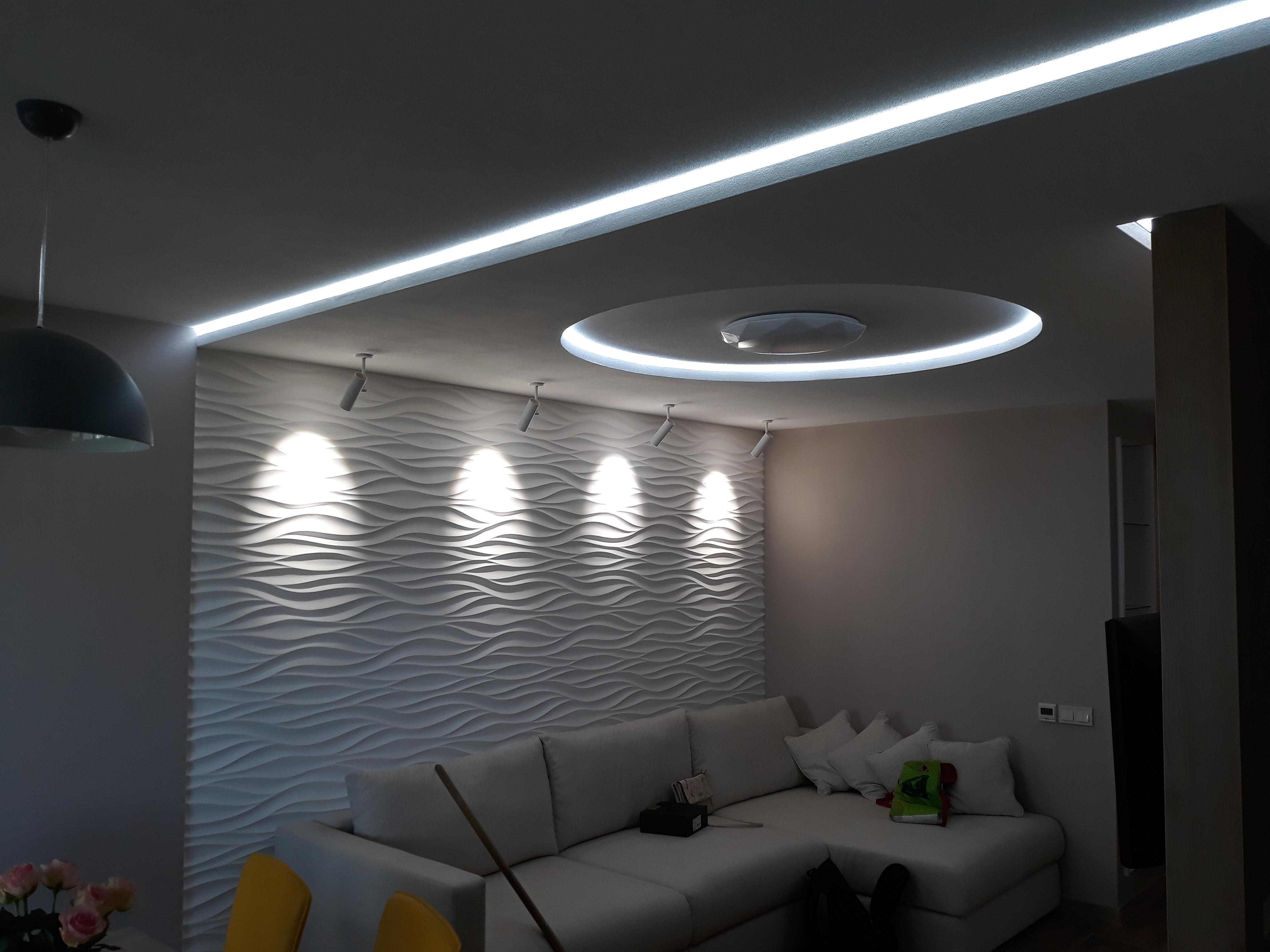 Фото монтаж и подключение светодиодной ленты и светильников