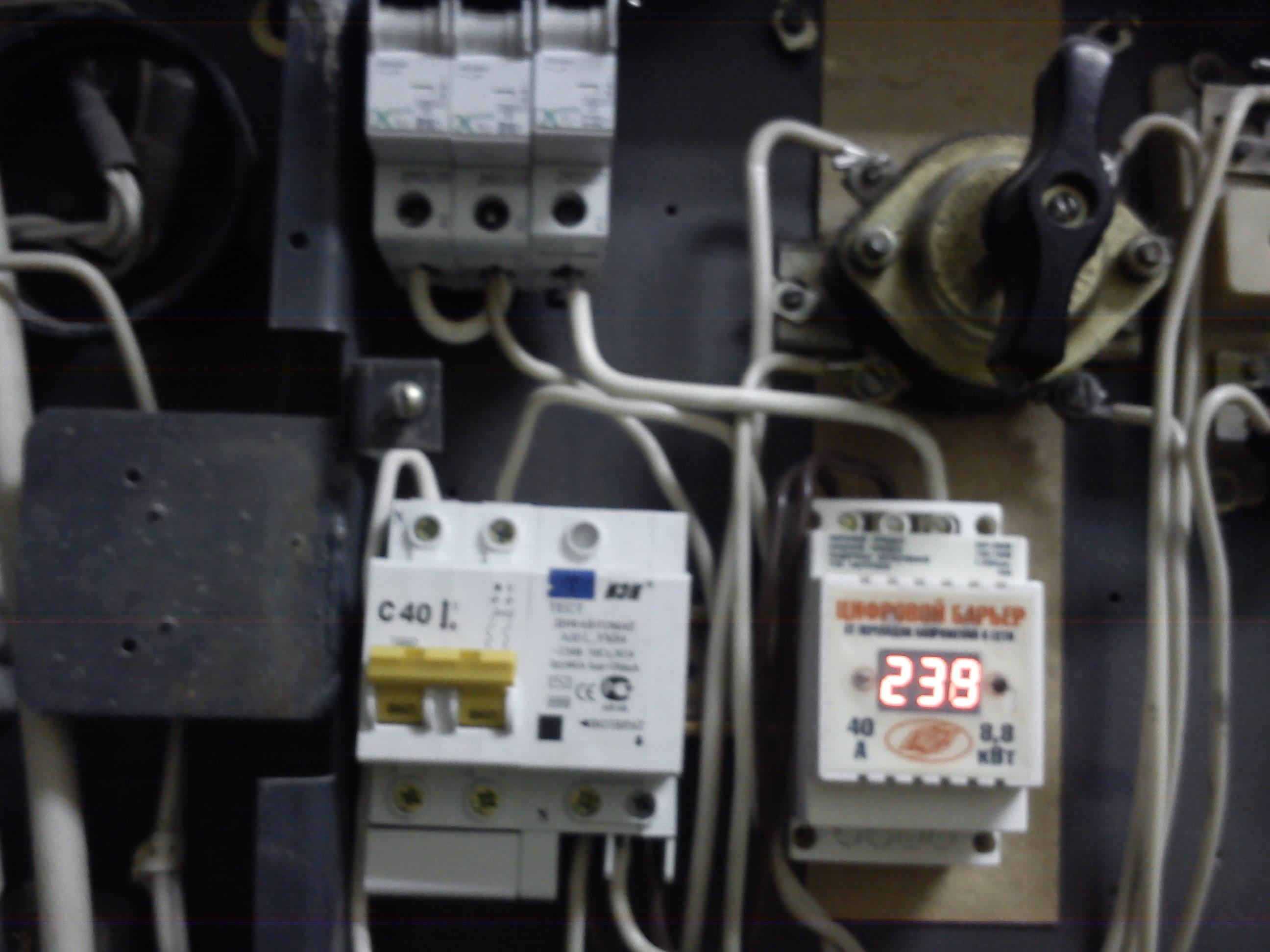 Фото Замена автоматов, установка реле напряжения и диф. автомата.