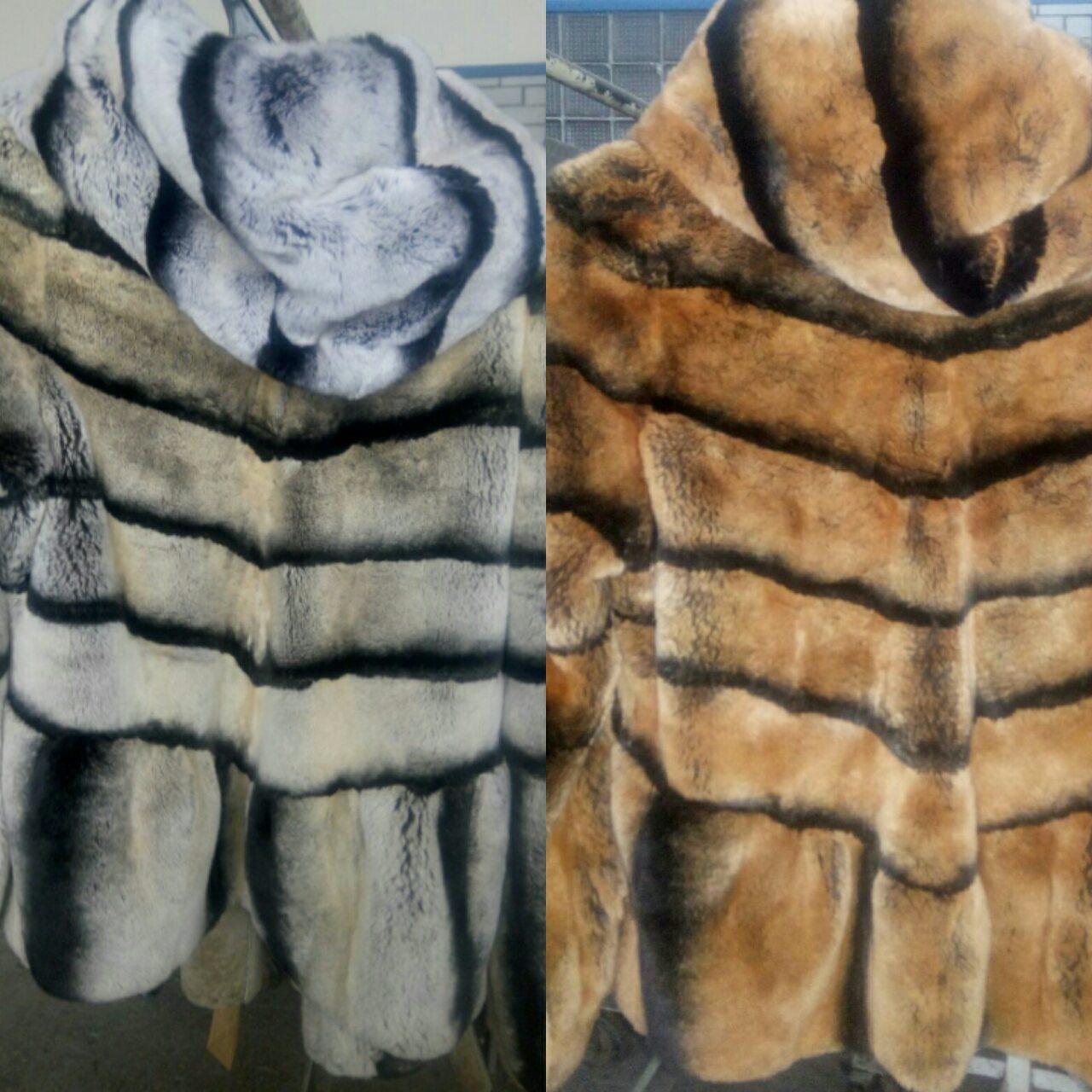 Фото Покраска шубы из натурального меха - безопасная покраска меха в изделии!
