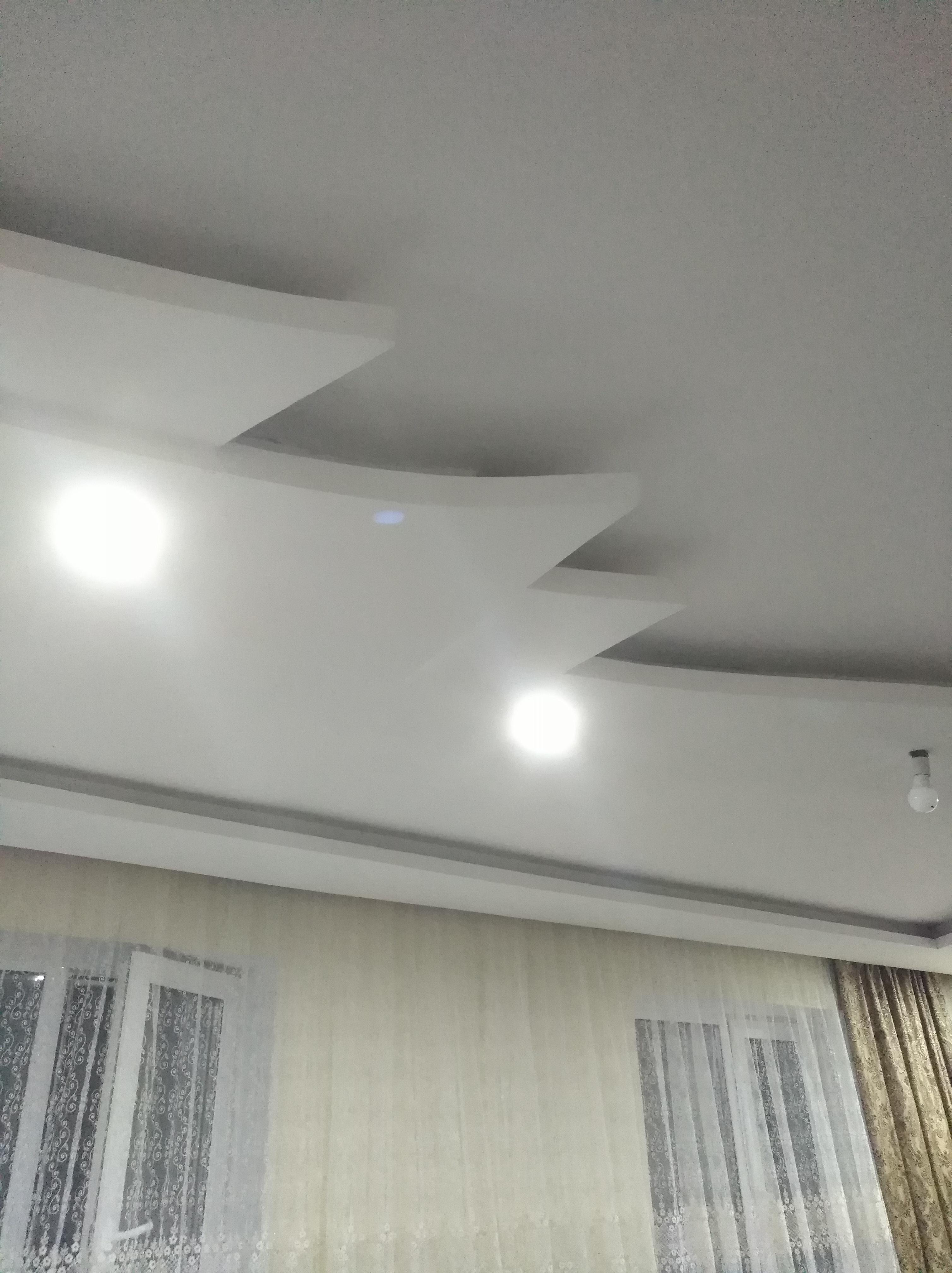 Фото двехуровневый потолок под натяжной потолок