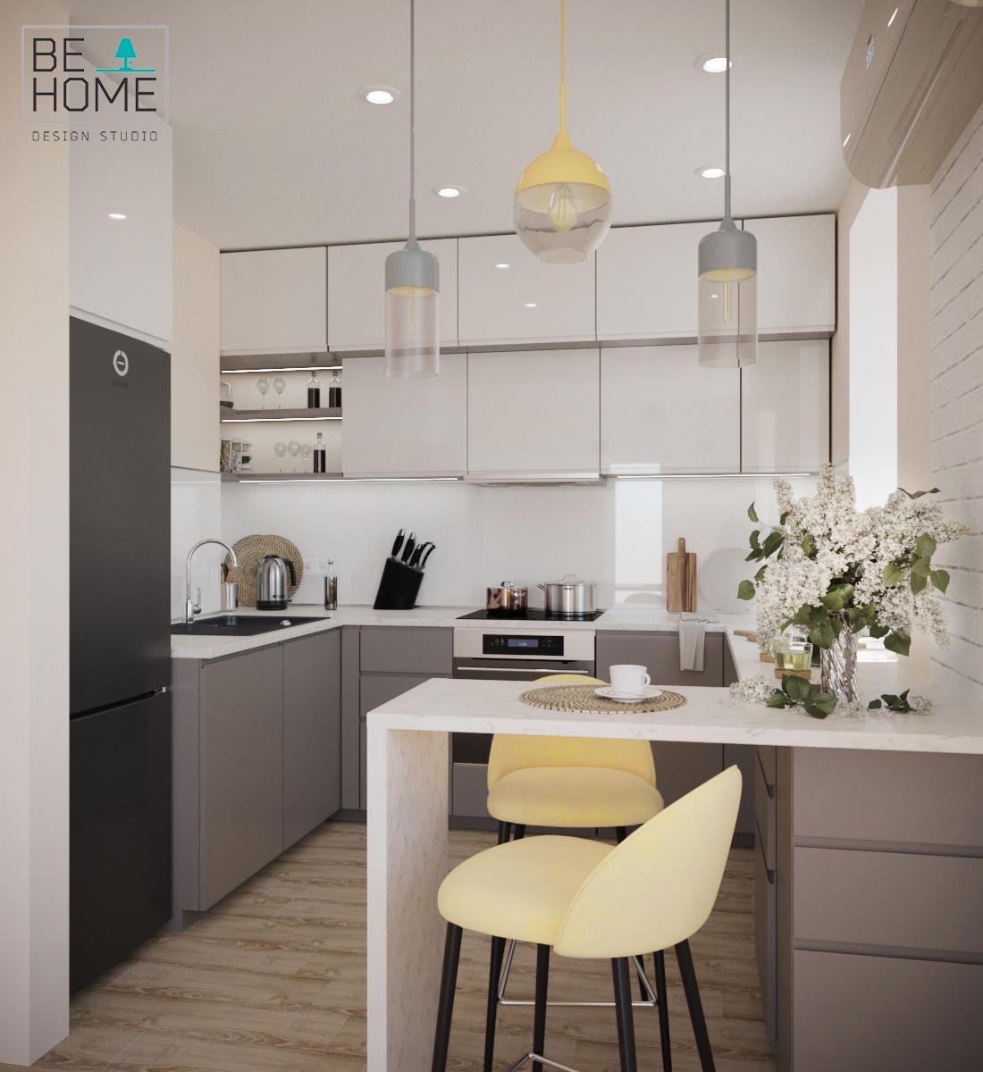 Фото Дизайн кухни (визуализация)