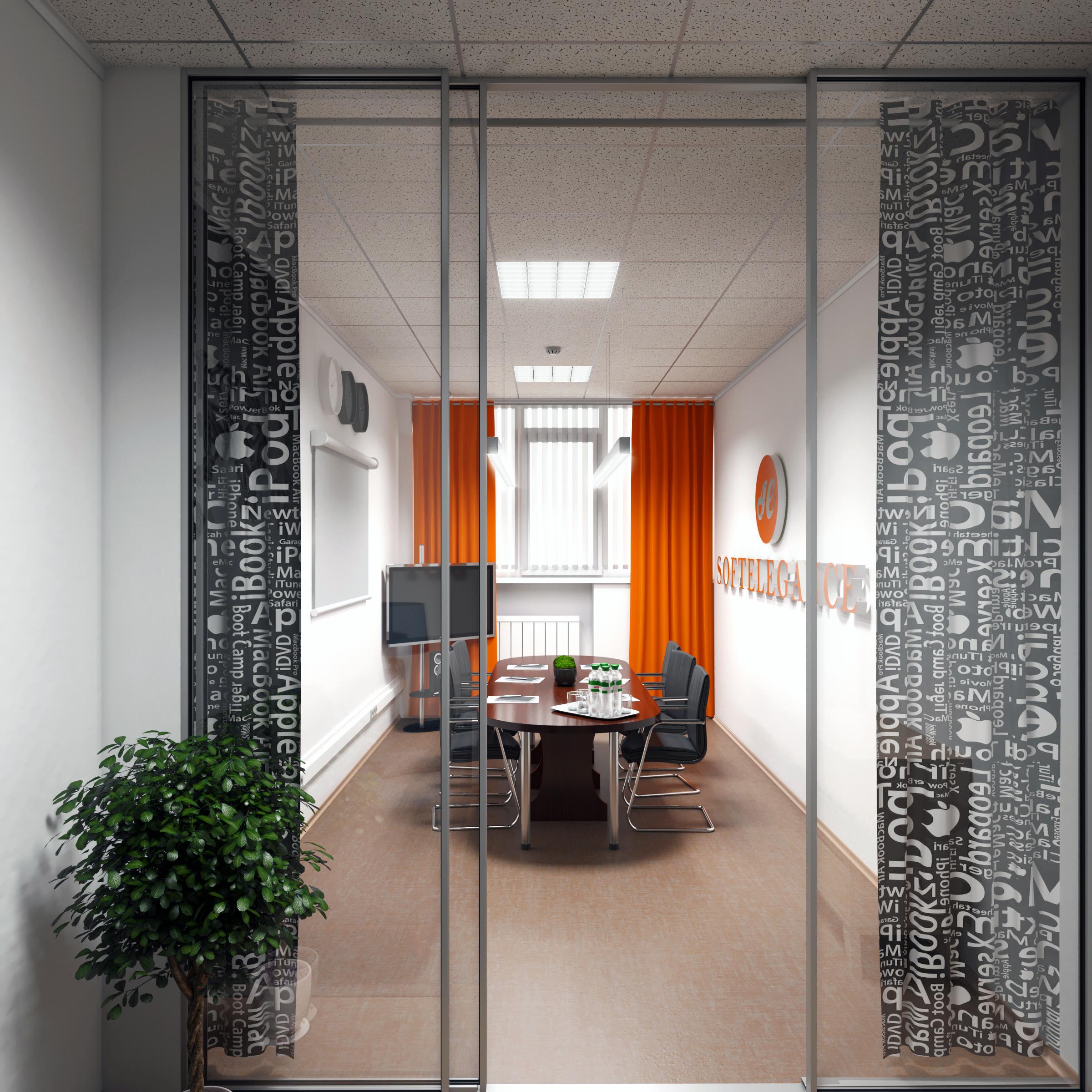 Фото Дизайн интерьера переговорной для ИТ-компании. Киев.